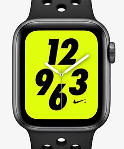 【ナイキ(NIKE)公式ストア】アップル ウォッチ ナイキ+ シリーズ 4 (GPS + Cellular) とナイキ スポーツバンド 40mm スポーツウォッチ AP0315-001 ブラック